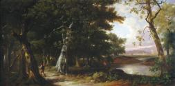 Figures in a Wooded Landscape