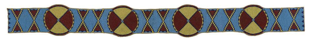 Beaded blanket strip